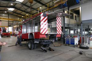 Projekt Vario: Abbau Feuerwehraufbau
